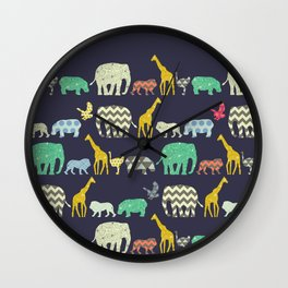 geo zoo Wall Clock