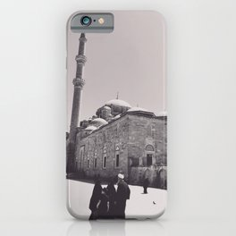 Istanbul mosque photo, black & white fine art, Turkey photography, Middle East iPhone Case