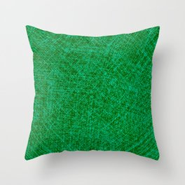 Scratched Green Throw Pillow