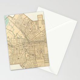 Vintage Map of Syracuse New York (1895) Stationery Cards