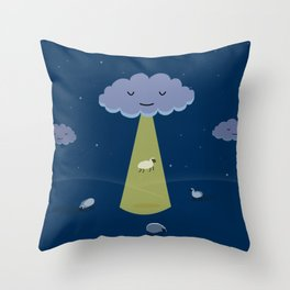 How Clouds Stay Fluffy Throw Pillow