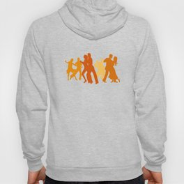 Tango Dancers Illustration  Hoody