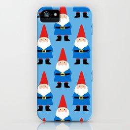Gnome Repeat in Blue iPhone Case