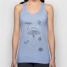 Mushrooms Unisex Tank Top
