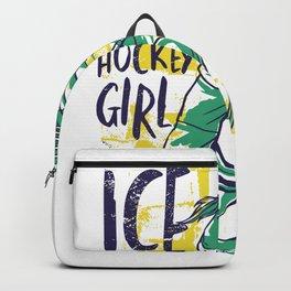 Ice Hockey Girl Backpack