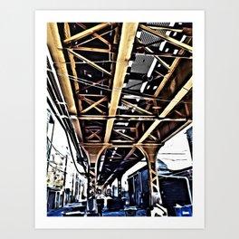 Under the El Tracks Art Print