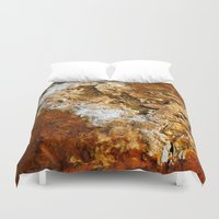 mineral Duvet Covers featuring Mineral Deposits by tracy-Me