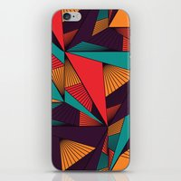arya iPhone & iPod Skins featuring Hexagonal Lines and Triangles by Hinal Arya