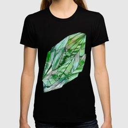 Crystal Emerald Green Gem 1 T-shirt