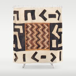 Kuba Congo Central African Wraparound Skirt Print 2 Shower Curtain