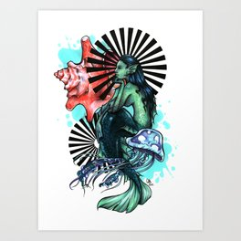Dear Mermaid... Art Print