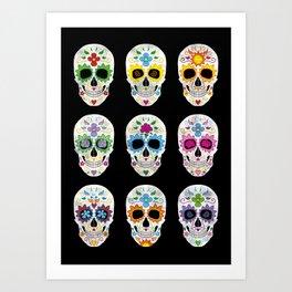 Nine skulls Art Print