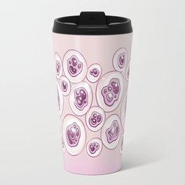 Creepy Pastel Pink Eyeballs Travel Mug