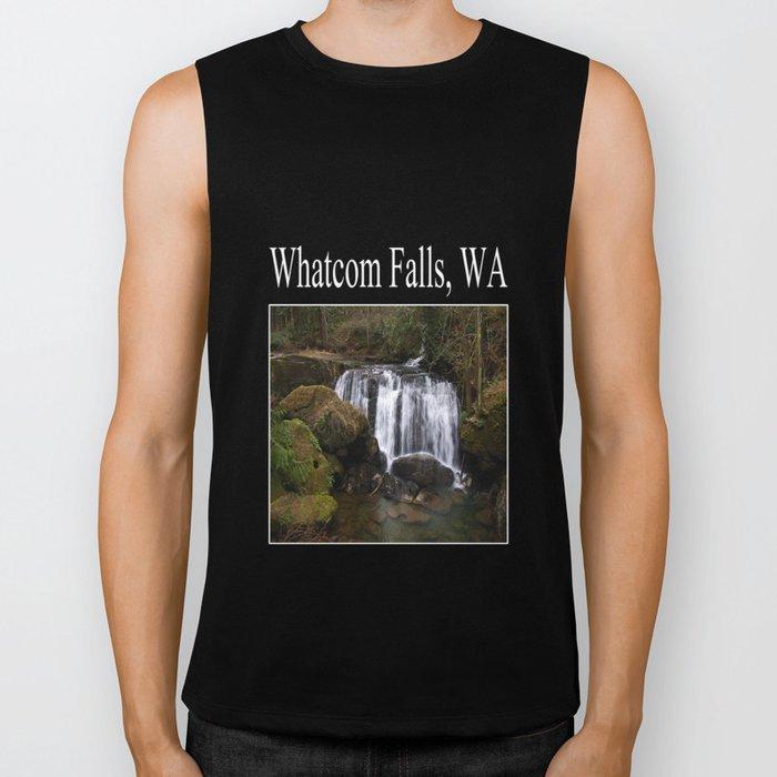 beautiful whatcom falls (square) Biker Tank