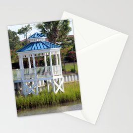 Blue And White Gazebo Stationery Cards