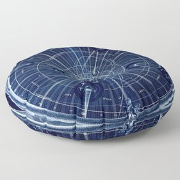 Celestial Map of the Universe Floor Pillow