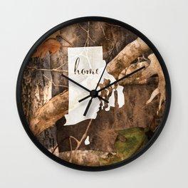 Rhode Island is Home - Camo Wall Clock