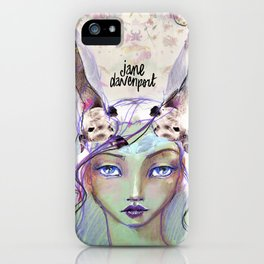 Dear Deer by Jane Davenport iPhone Case