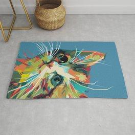 Cute Cat Pop Art Rug