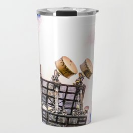 Radio Tower Cloudy Sky bright Travel Mug