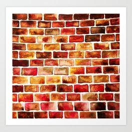 Bricked Art Print