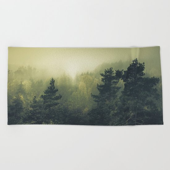 Forests never sleep Beach Towel