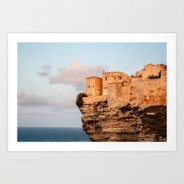 Citadelle de Bonifacio. Art Print