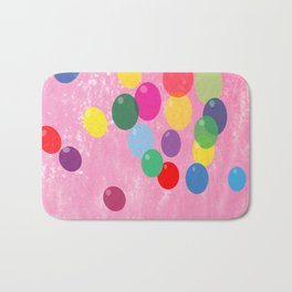 Balloons in a Cotton Candy Sky Bath Mat