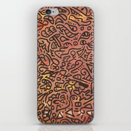 autumn vibes - water color doodle iPhone Skin