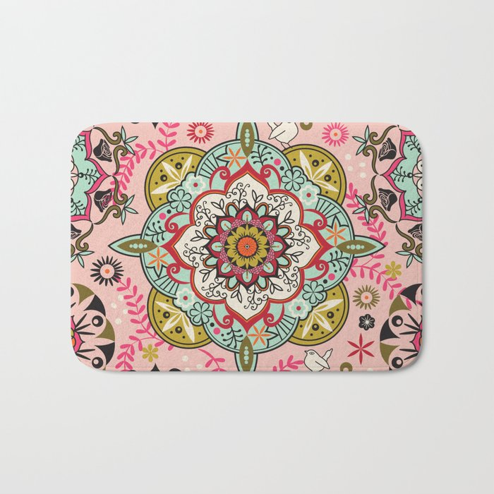 Mandala color pattern Bath Mat