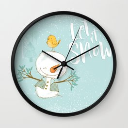 let it snow 4 Wall Clock