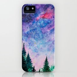 Forest in space iPhone Case