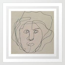 Blind Contour Drawing Art Print