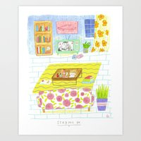 Staying In Art Print