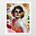 Golden Elizabeth Taylor (Sugar Skull Variant)  By Zabu Stewart by zabustewart