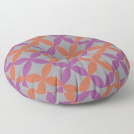 Purple Gray Orange Minimal Flower Pattern V12 2021 Color of the Year Ultimate Gray & Accent Shades Floor Pillow
