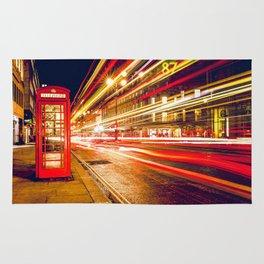 London Street at Night Rug