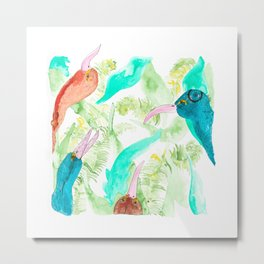 Leaf Birds Metal Print