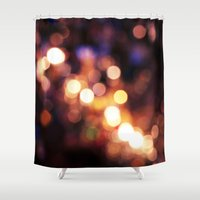 bokeh Shower Curtains featuring Bokeh by bobbierachelle