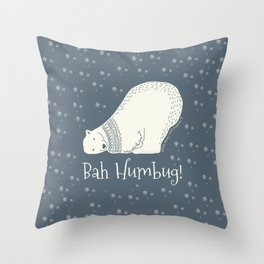 Bah humbug! - Ebenezer Scrooge Throw Pillow