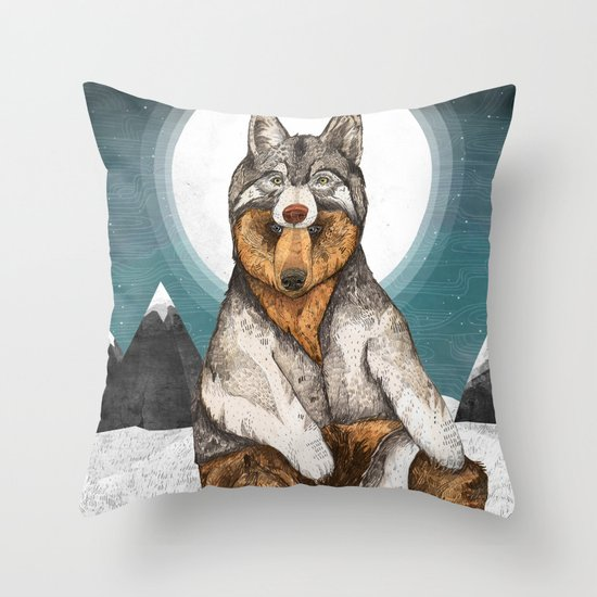 Wear Wolf Throw Pillow