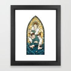 Stained Glass Strangle Framed Art Print