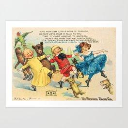 1904 Vintage Buster Brown Shoes Landscape Advertisement Poster Art Print