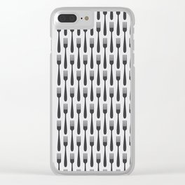 Kitchen Cutlery Fork Clear iPhone Case