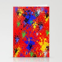 splatter Stationery Cards featuring Splatter by Alexis Morgan