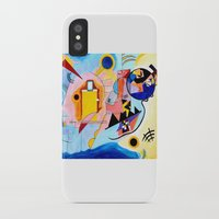 kandinsky iPhone & iPod Cases featuring Yellow Red Blue - Tribute to Kandinsky by ArtvonDanielle