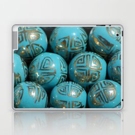 Chinese Porcelain Beads In Blue Laptop & iPad Skin