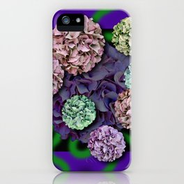 HYDRANGEAS FADING ABSTRACT BOUQUET  iPhone Case