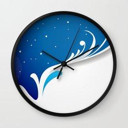 Fairy winter pattern Wall Clock