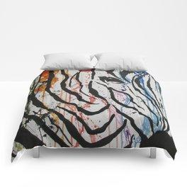 Splash of Zebra Comforters